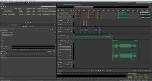 Interface d'Adobe Audition