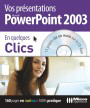 PowerPoint 2003 - Collection En quelques clics - Auteurs : MOSAIQUE Informatique (Alain MATHIEU et Dominique LEROND) - Nombre de pages : 160 pages - ISBN : 978-2-7429-6659-2 - EAN : 9782742966592 - Référence Micro Application : 7659
